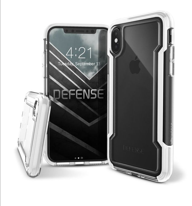 CAPA CASE ANTICHOQUE DEFENSE CLEAR PARA IPHONE X - X-DORIA