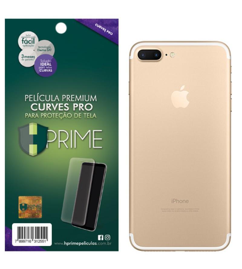 Película Premium HPrime Apple IPhone 7 Plus - VERSO - Curves PRO (Se Adere Na Parte Curva Da Tela)