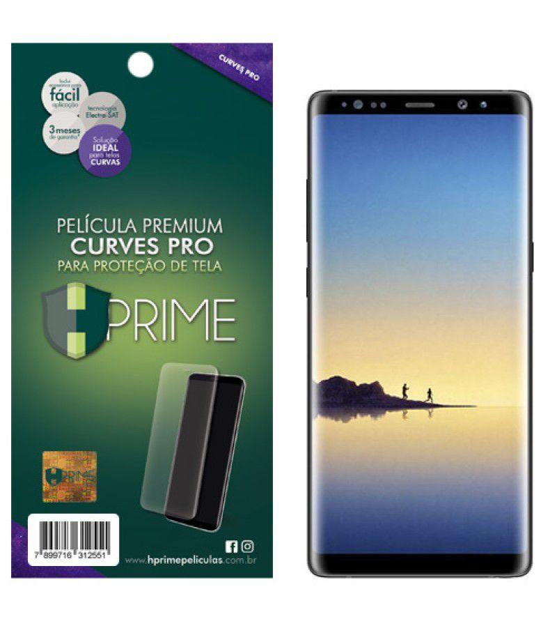 Película Premium HPrime Samsung Galaxy Note 8 - Versão 2 - Curves PRO (Se Adere Na Parte Curva Da Tela)