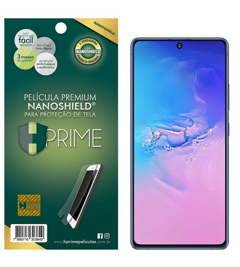 Kit Película HPrime para Samsung Galaxy S10 Lite | Frontal Nanoshield + Lens Protect Camera