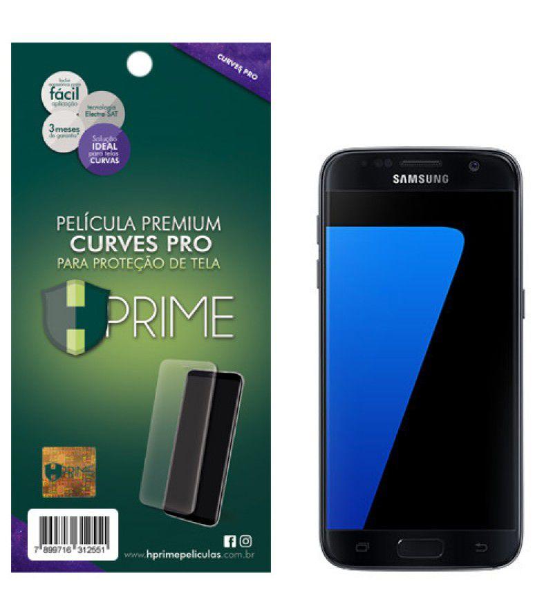 Película Premium HPrime Samsung Galaxy S7 - Curves PRO (Se Adere Na Parte Curva Da Tela)