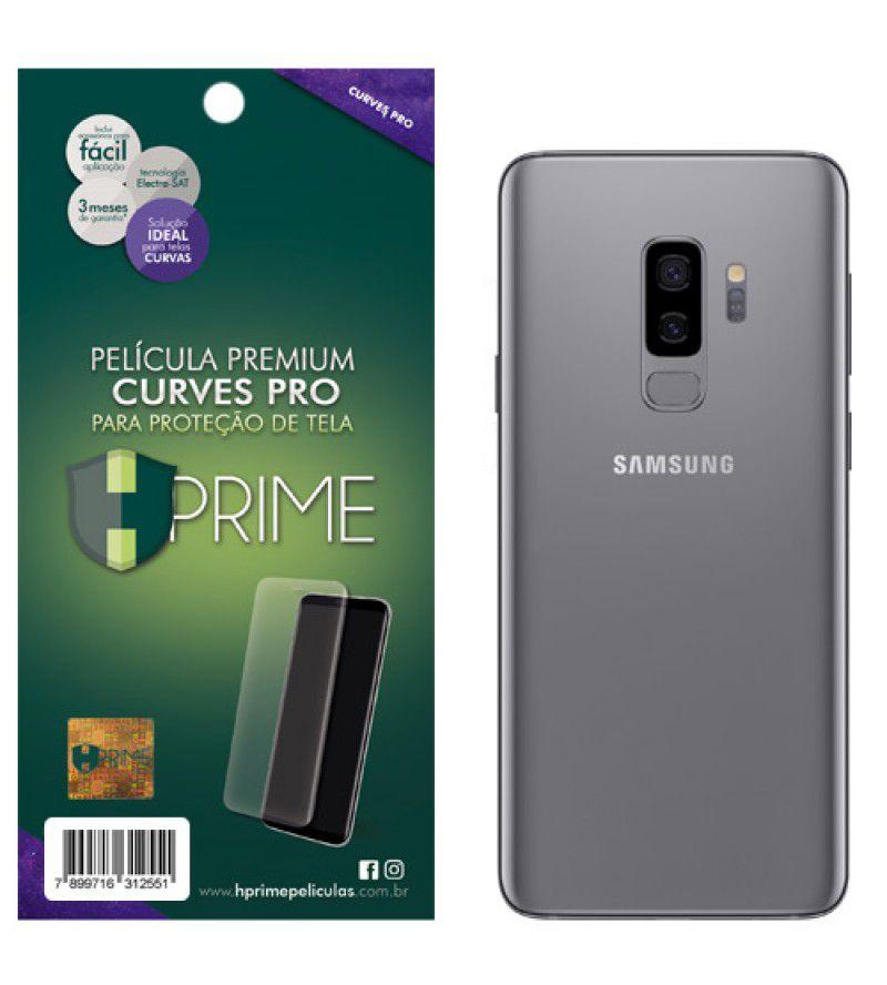Película Premium HPrime Samsung Galaxy S9 Plus - VERSO - Curves PRO (Se Adere Na Parte Curva Da Tela)
