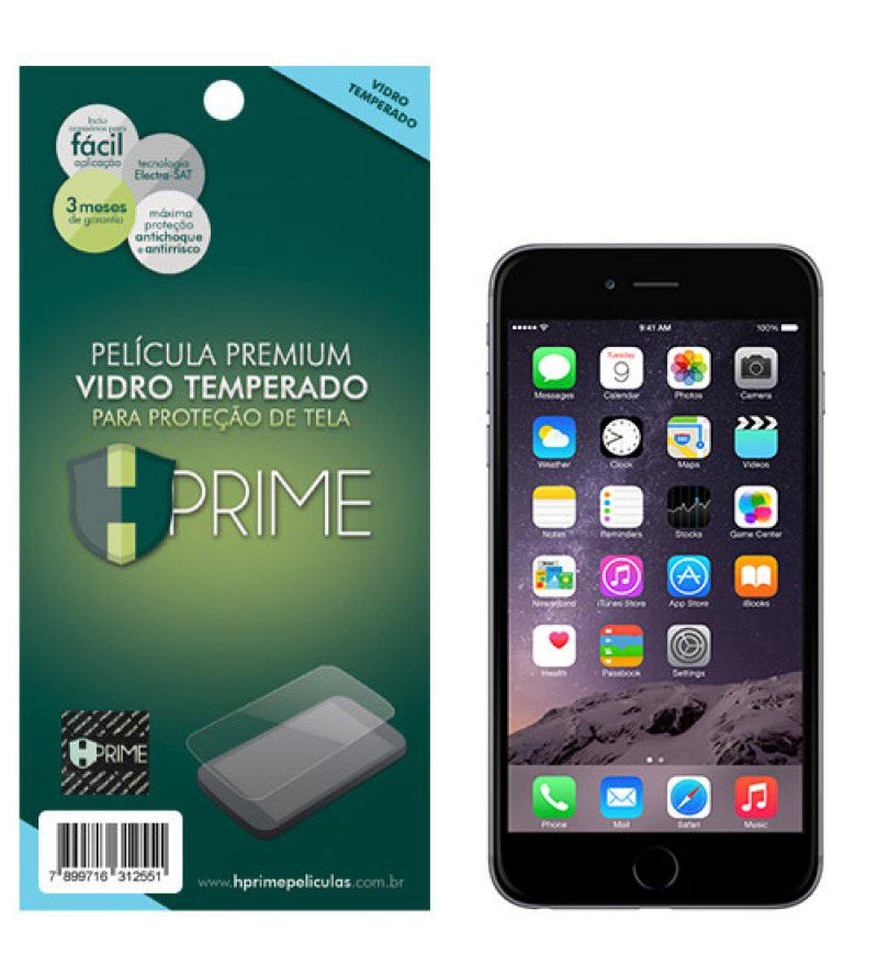 Película Vidro Temperado Premium HPrime Apple IPhone 6 / 6S