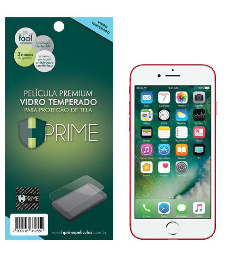 Película Vidro Temperado Premium HPrime Apple IPhone 7 / IPhone 8 / IPhone SE 2020
