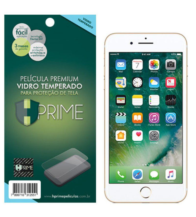 Película Vidro Temperado Premium HPrime Apple IPhone 7 Plus / IPhone 8 Plus