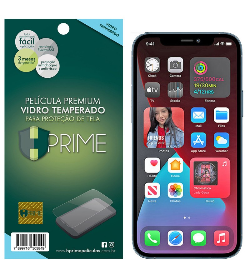 Película Vidro Temperado Premium HPrime IPhone 12 Pro MAX 6.7