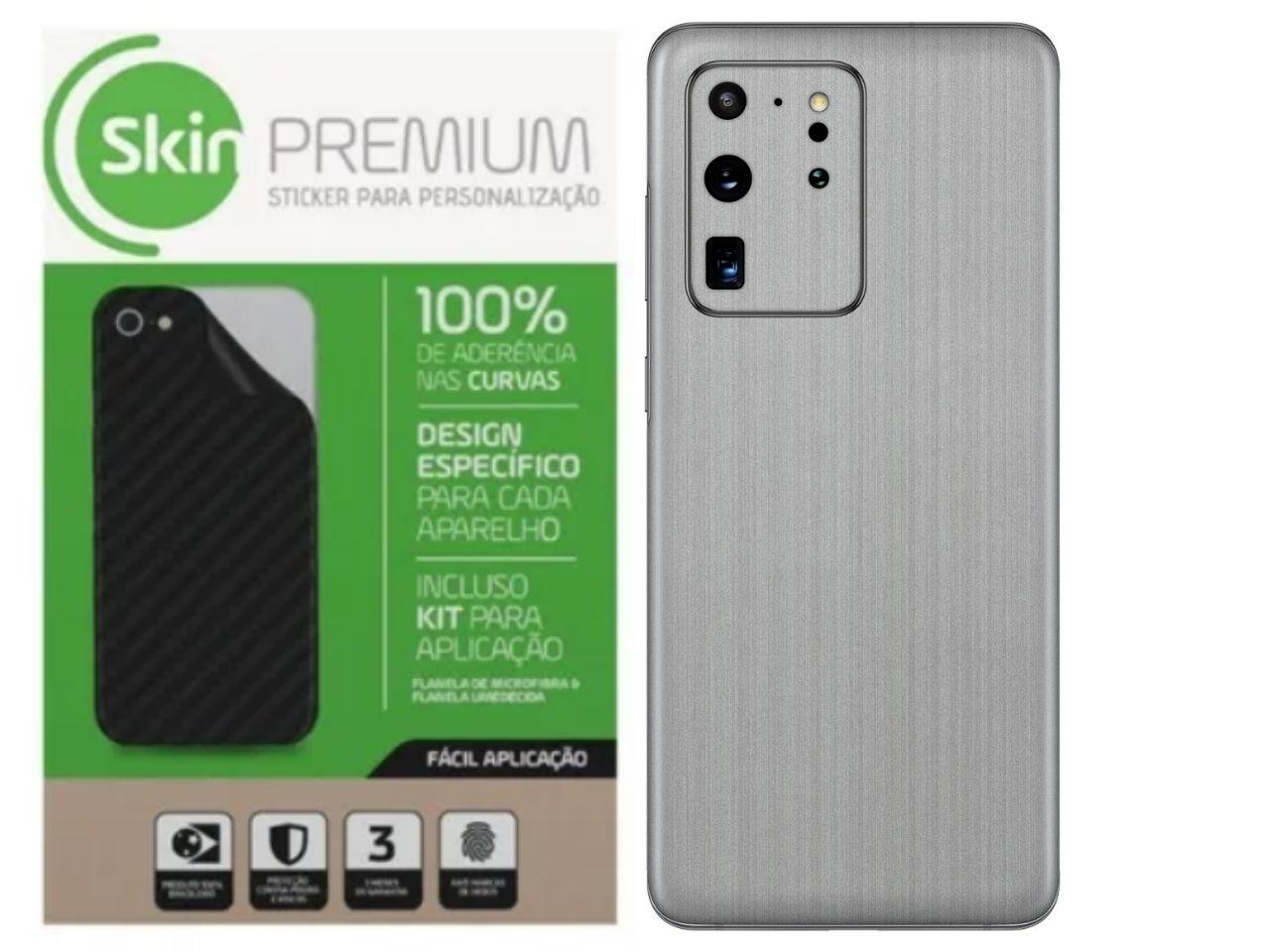 Skin Premium Adesivo Aço Escovado Verso e Laterais Samsung Note 20 Ultra
