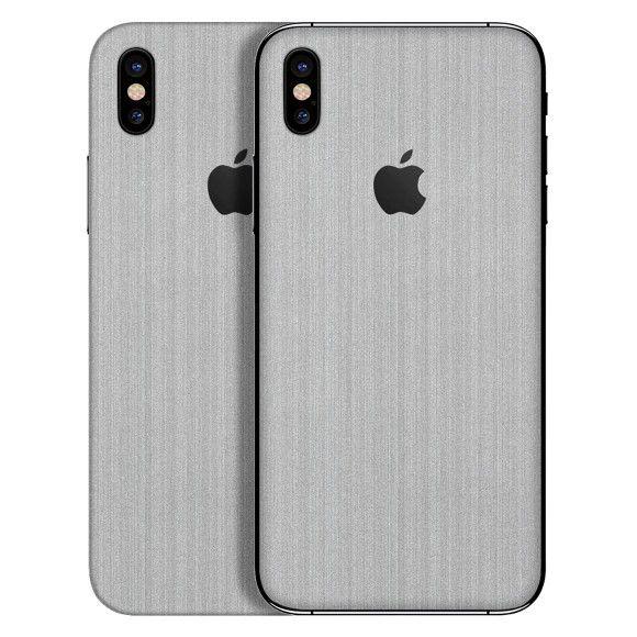 Skin Premium - Adesivo Estampa Aço Escovado iPhone Xs