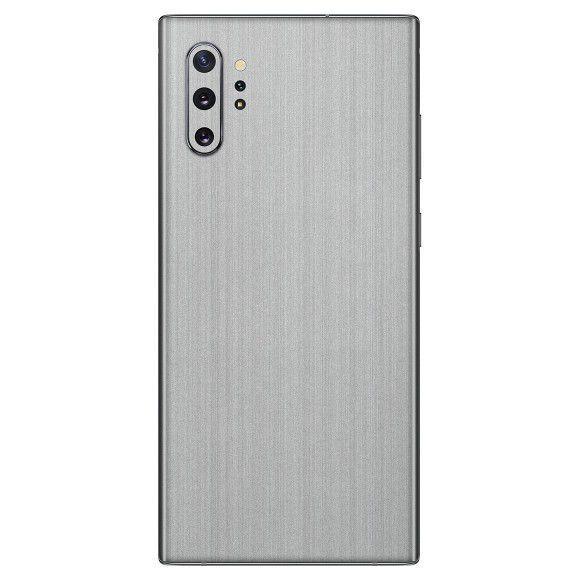 Skin Premium - Adesivo Estampa Aço Escovado Samsung Galaxy Note 10 Plus