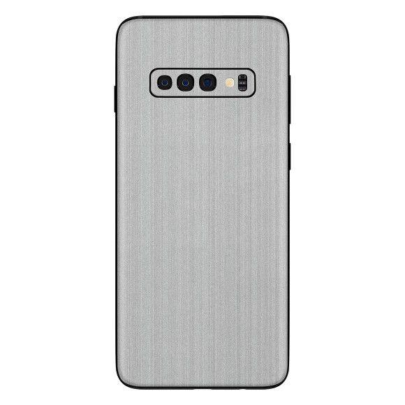 Skin Premium - Adesivo Estampa Aço Escovado  Samsung Galaxy S10