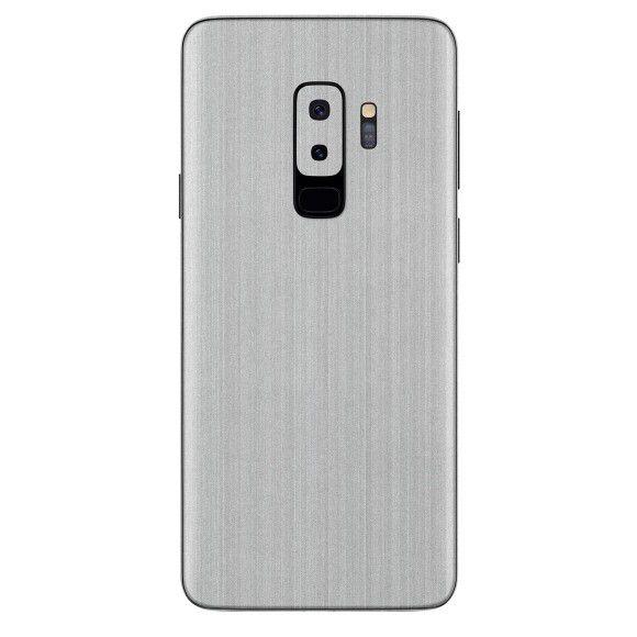 Skin Premium Estampa de Aço escovado Verso e Laterais para Samsung Galaxy S9 Plus