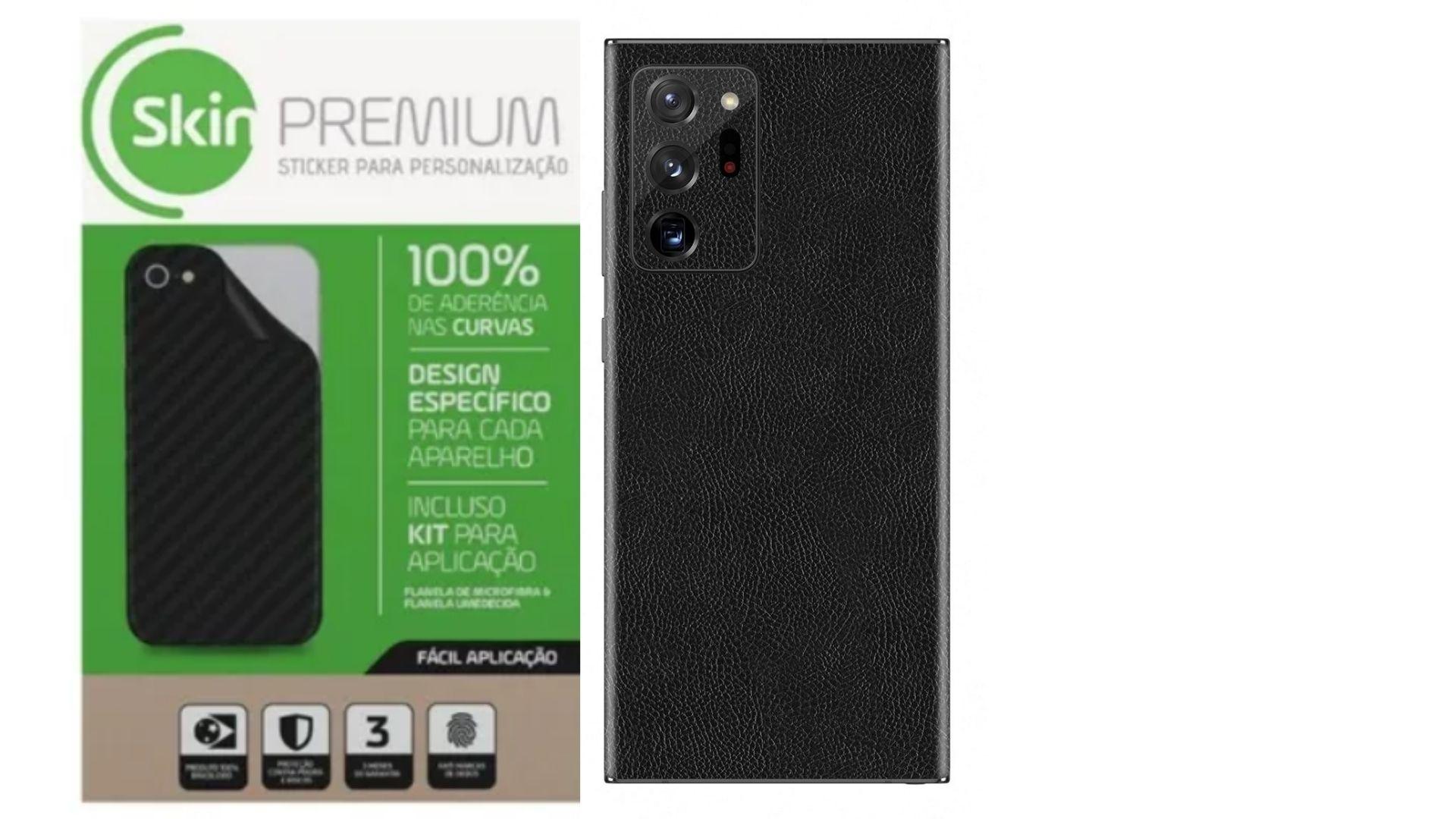 Skin Premium Adesivo Estampa Couro Samsung Note 20 Ultra Verso e Laterais