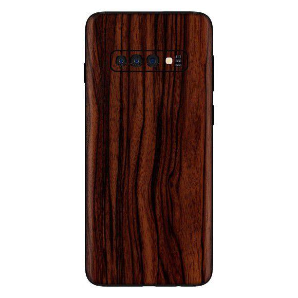 Skin Premium - Adesivo Estampa Madeira Samsung Galaxy S10