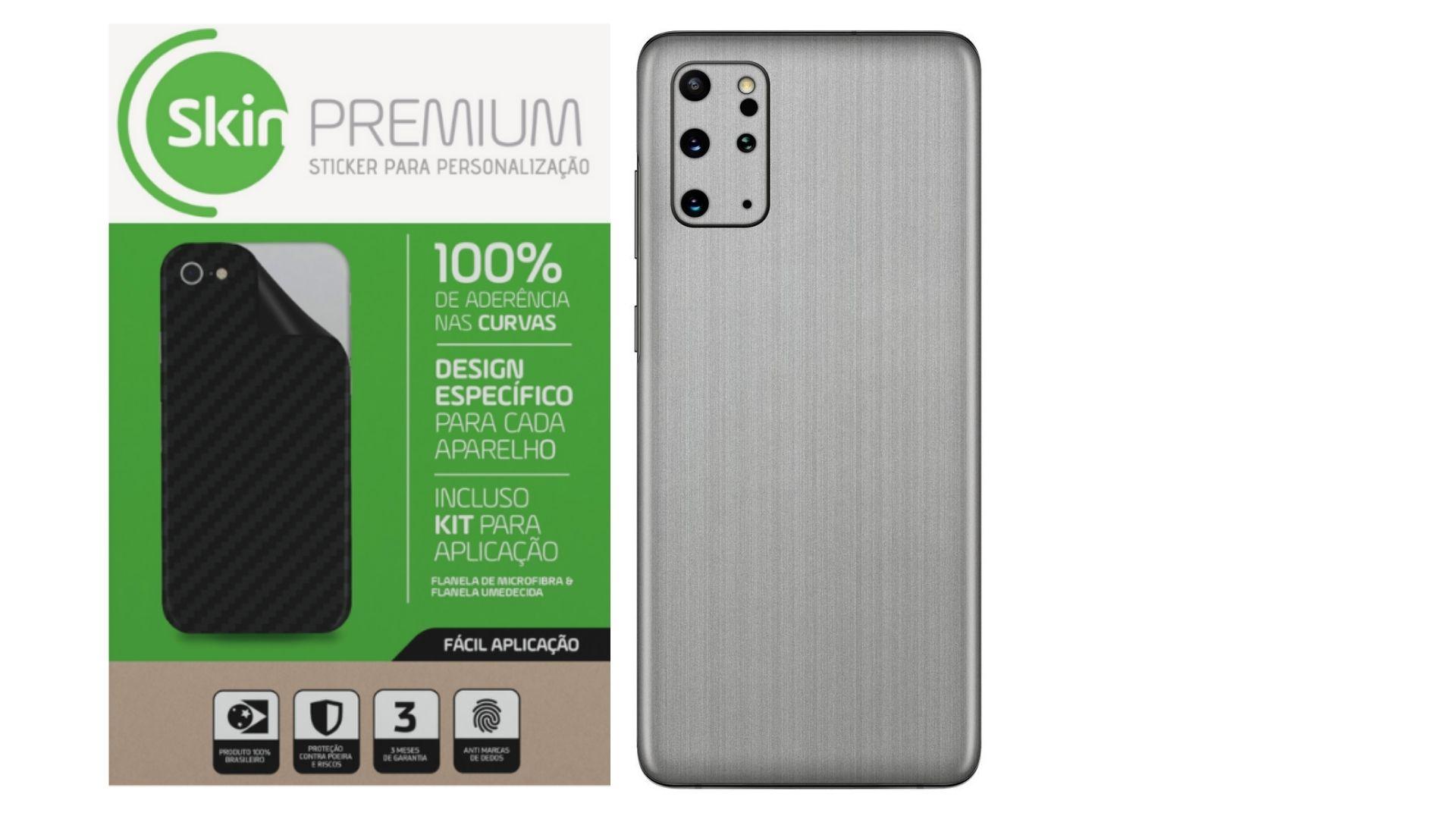Skin Premium Estampa Aço Escovado para Samsung Galaxy S20 Plus