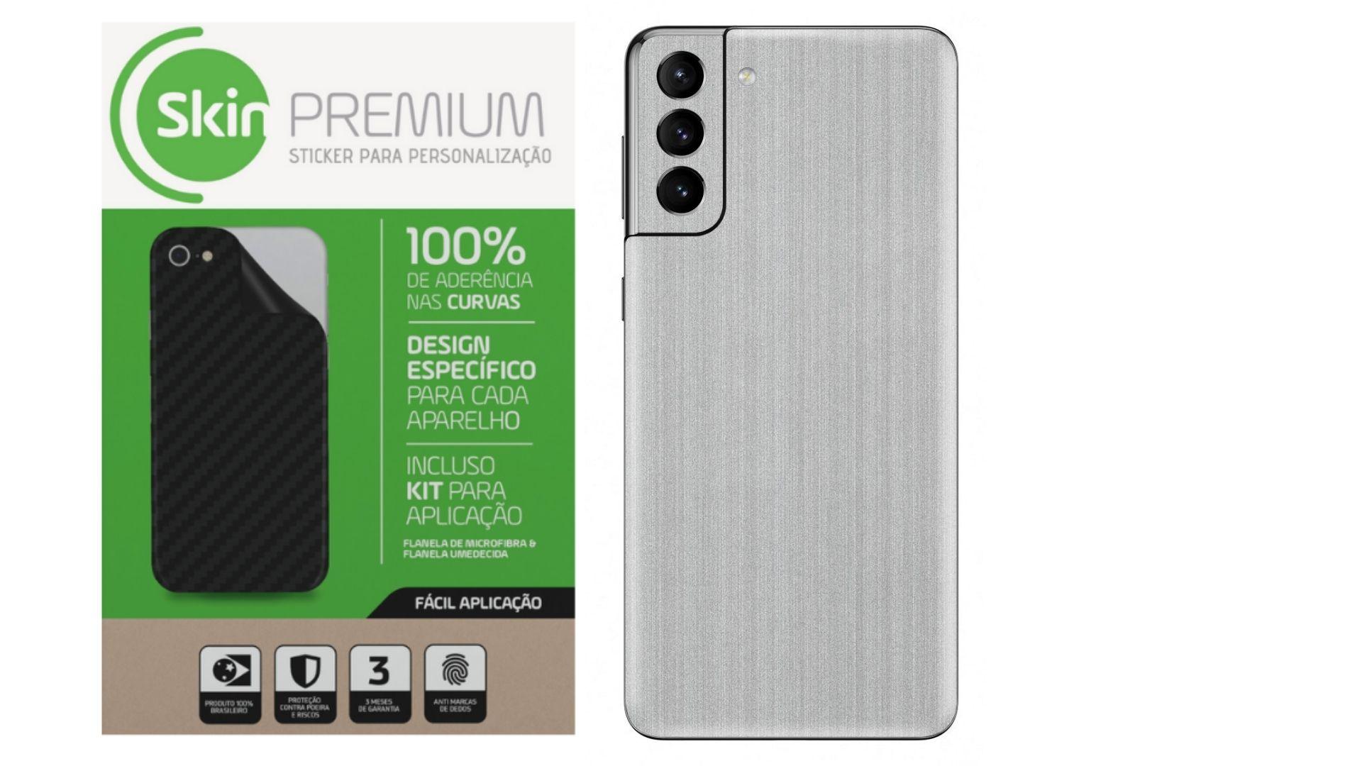 Skin Premium Estampa Aço Escovado para Samsung Galaxy S21 Plus