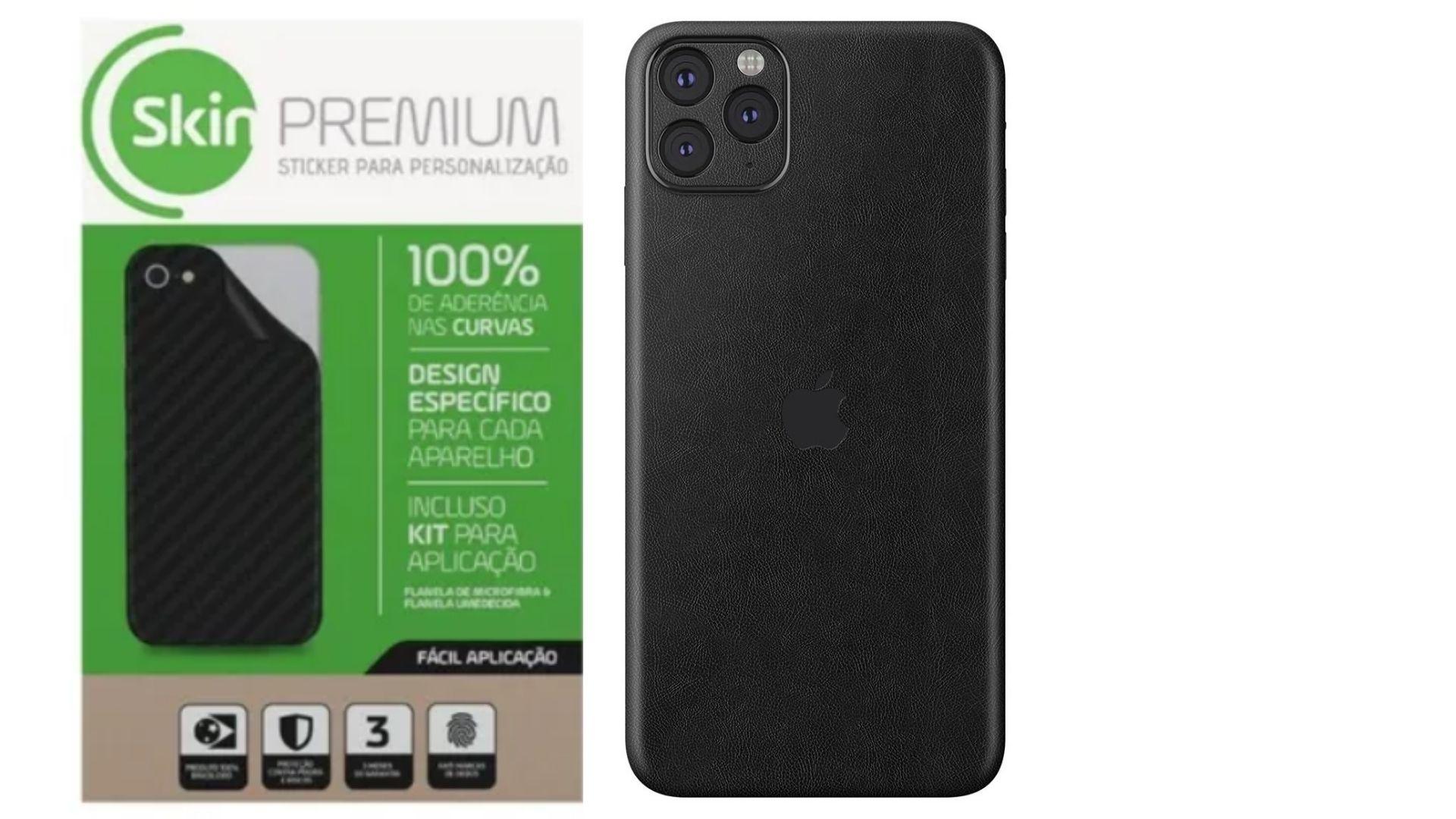 Skin Premium Estampa Couro Verso e Laterais para IPhone 11 Pro