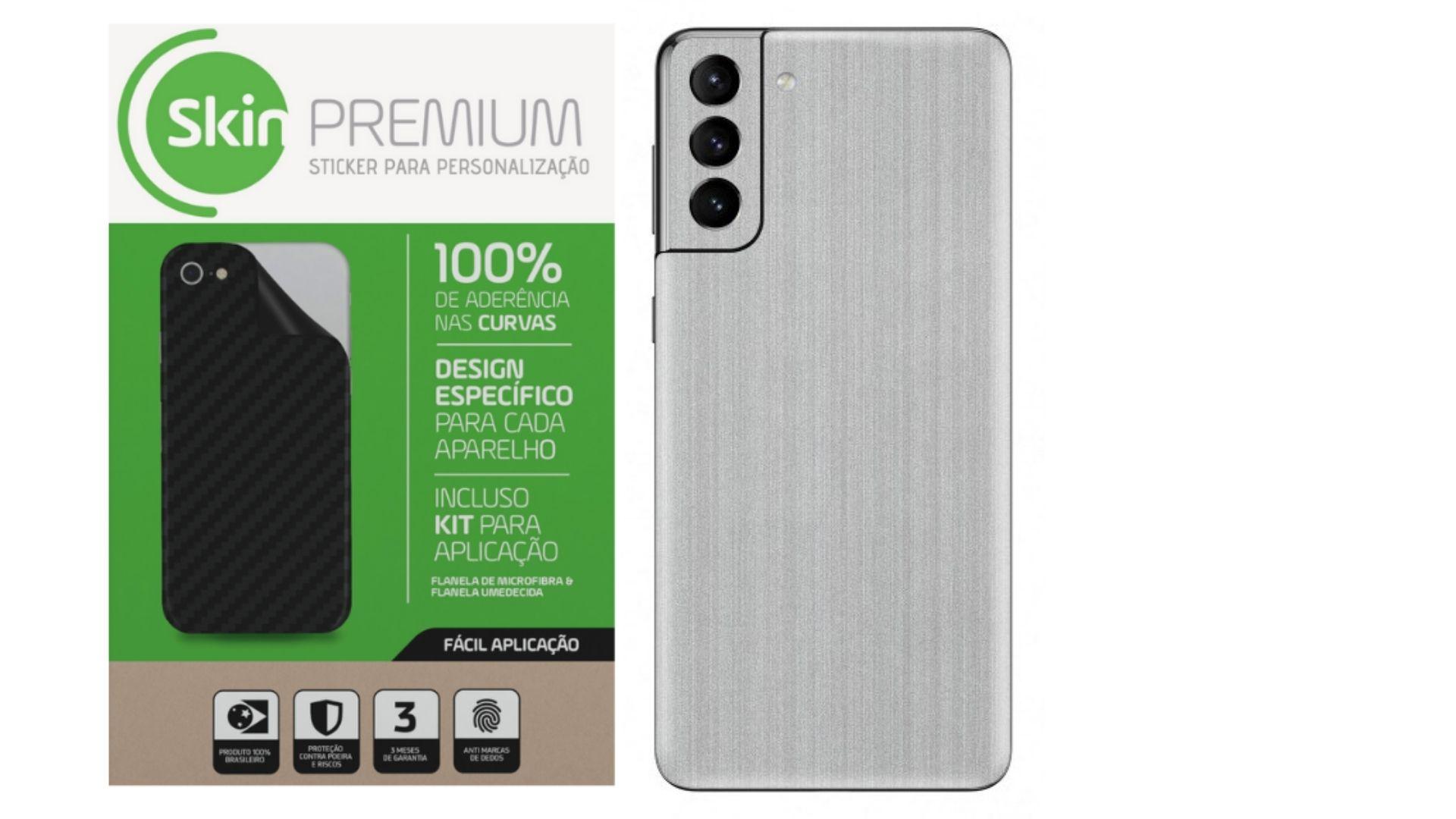 Skin Premium Estampa de Aço Escovado para Samsung Galaxy S21