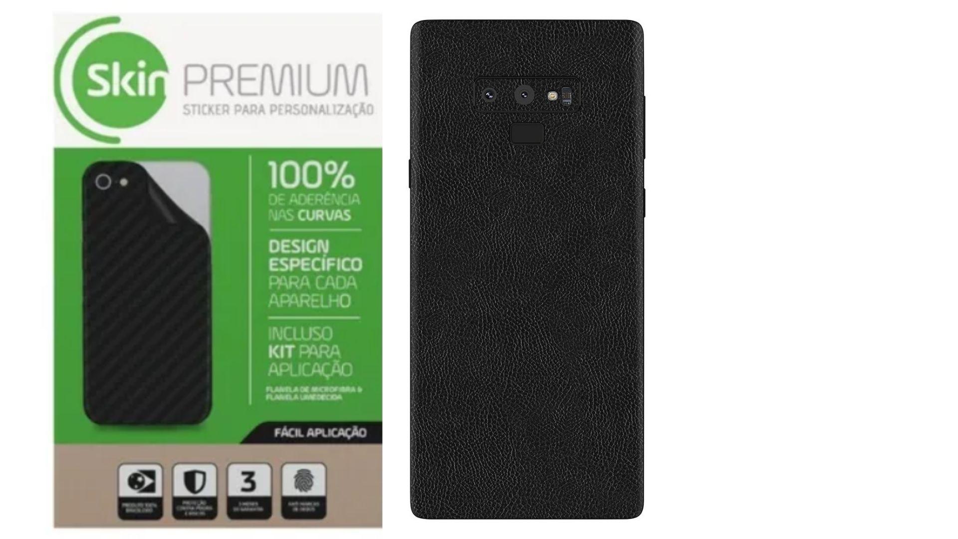 Skin Premium Estampa de Couro Verso e Laterais para Samsung Galaxy Note 9