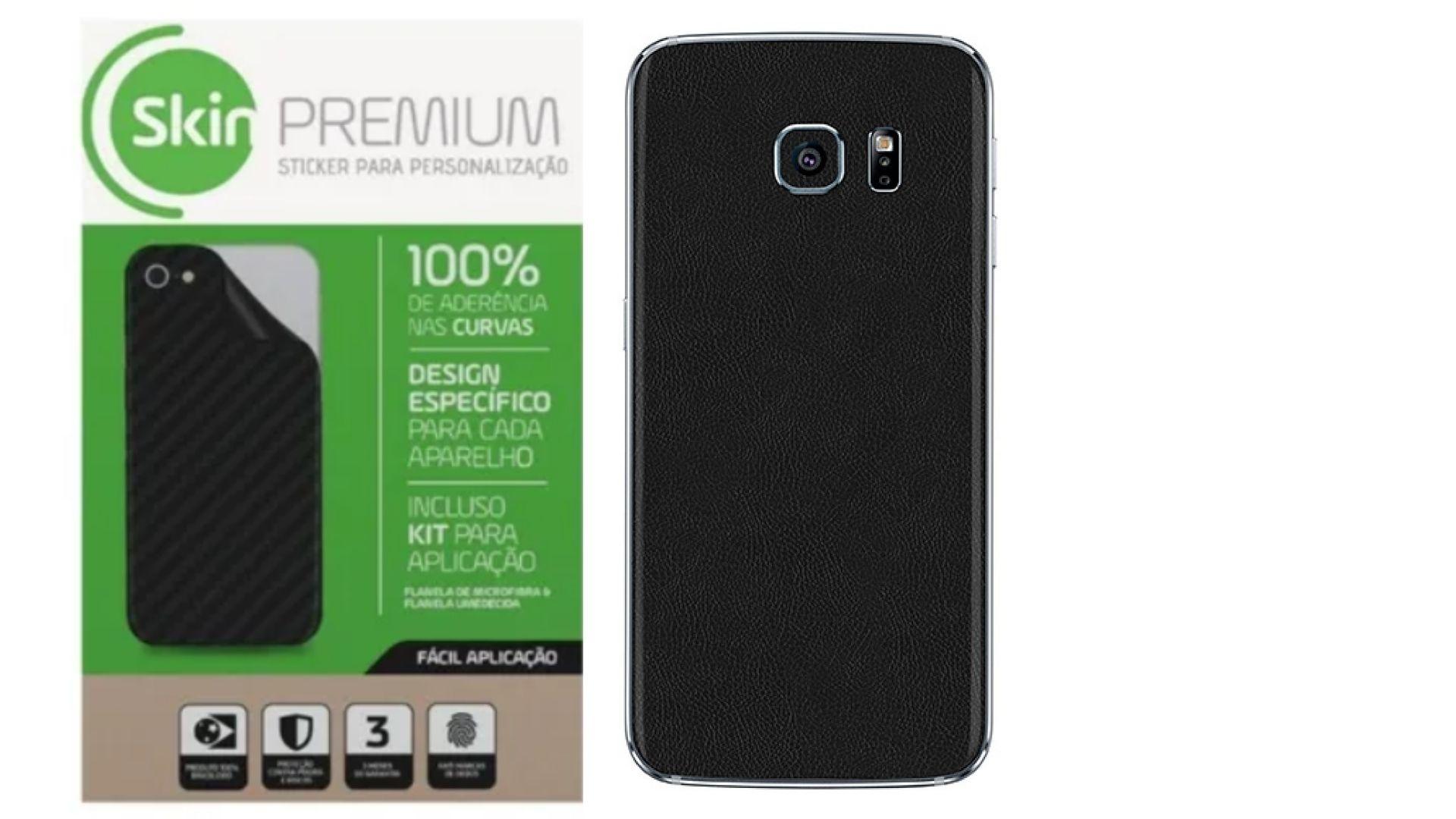 Skin Premium Estampa de Couro para Samsung Galaxy S7