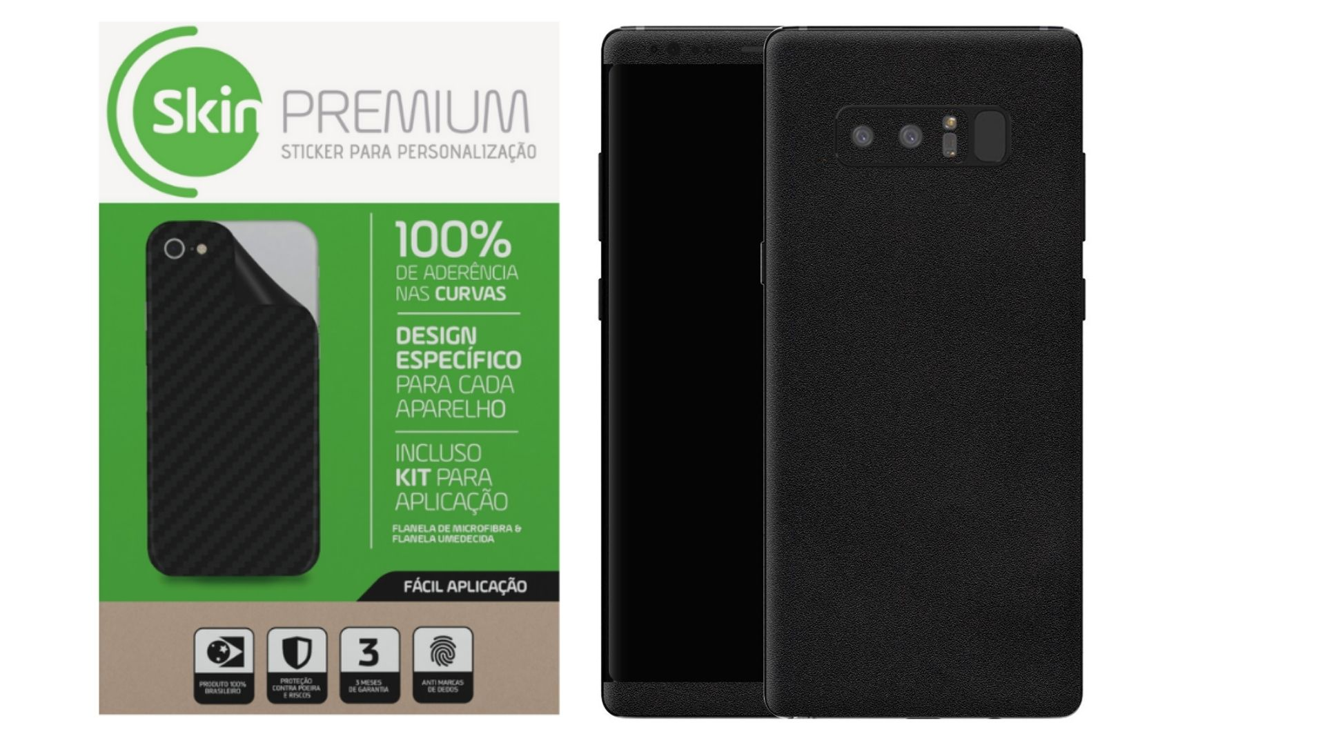 Skin Premium Estampa  Jateado Fosco Verso e Laterais para Samsung Galaxy Note 8