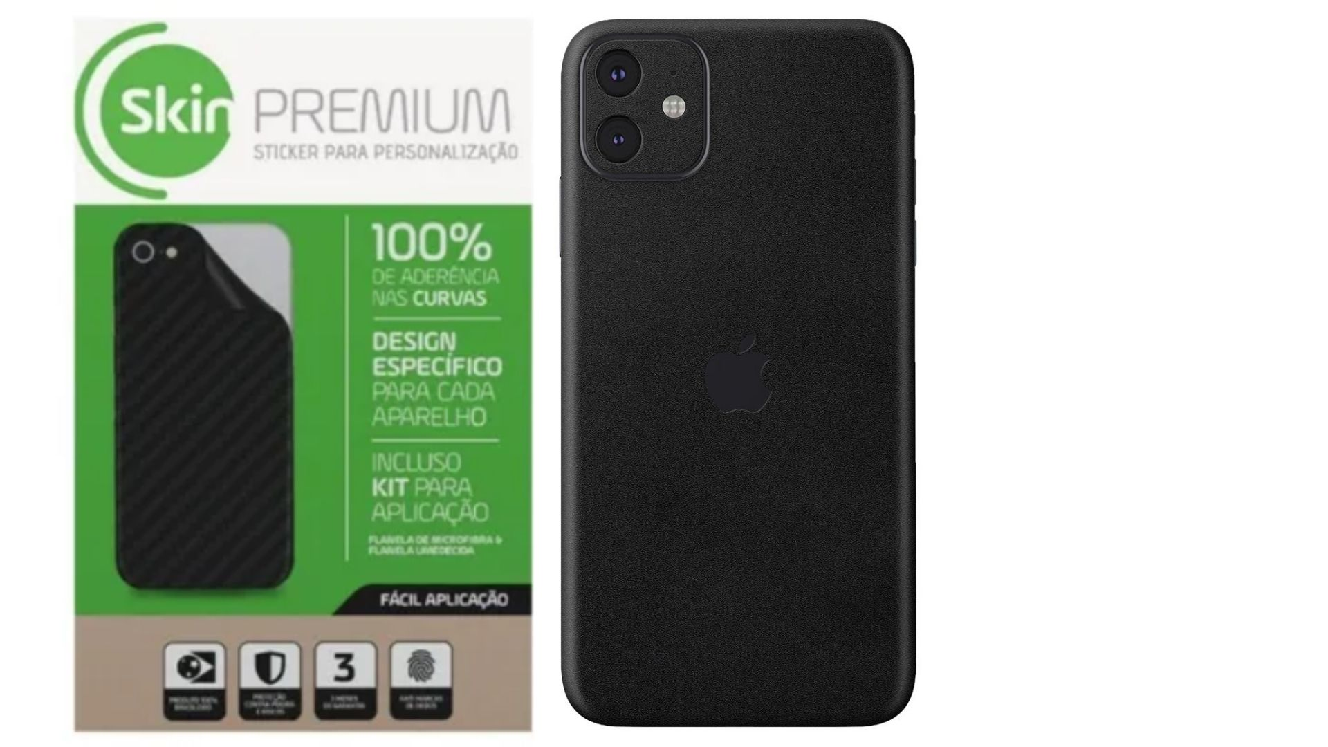 Skin Premium Estampa Jateado Fosco Verso e Laterais para IPhone 11