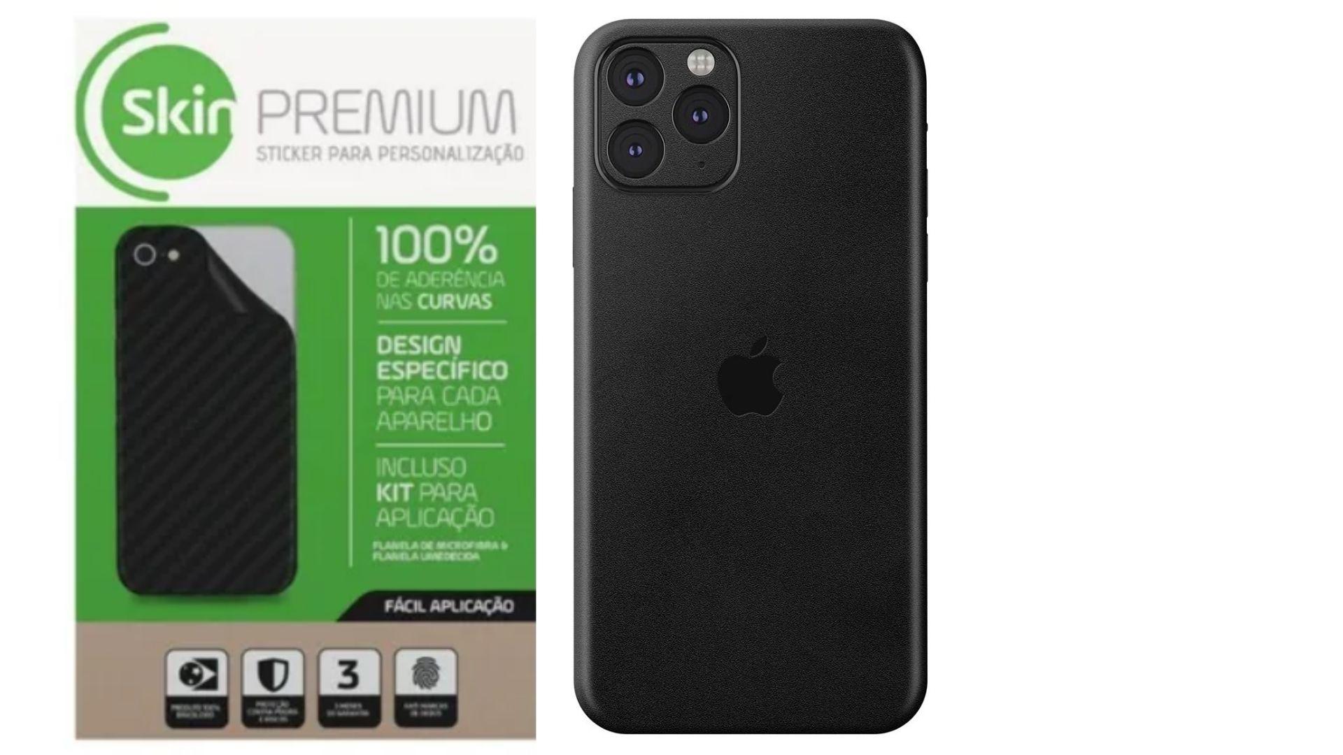 Skin Premium Estampa Jateado Fosco Verso e Laterais para IPhone 11 Pro