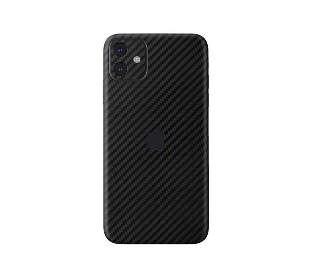 Skin Premium Fibra de Carbono Verso e Laterais para Iphone 11