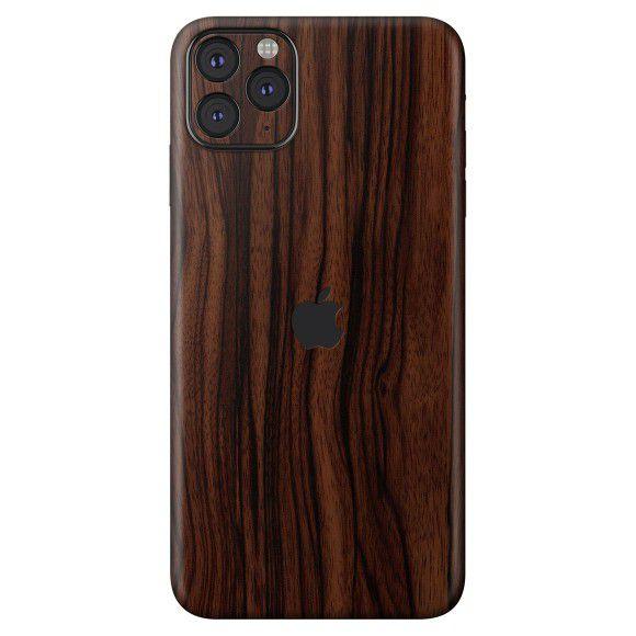 Skin Premium Estampa Madeira Escura Iphone 11 Pro Max