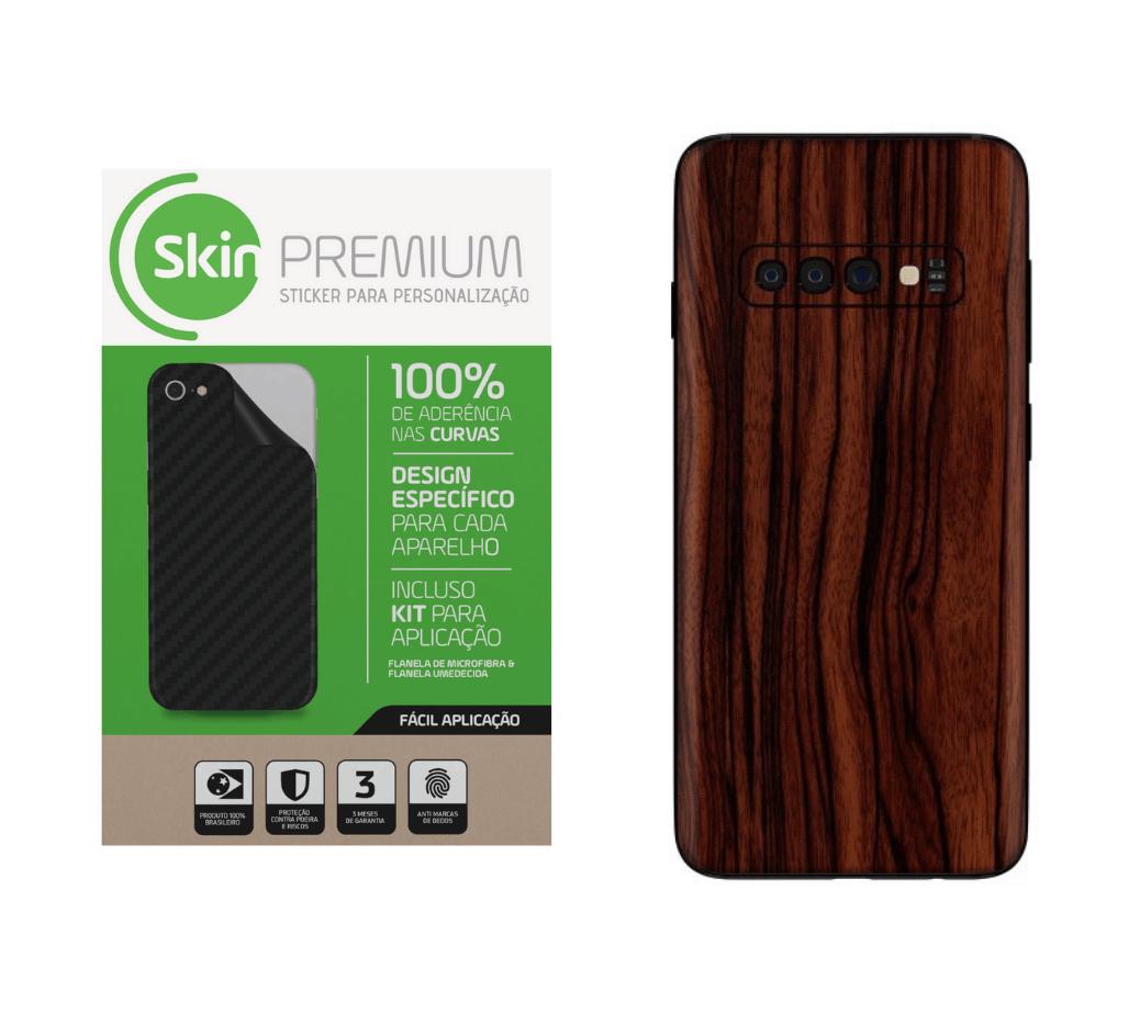 Skin Premium Estampa Madeira Samsung Galaxy S10 Plus