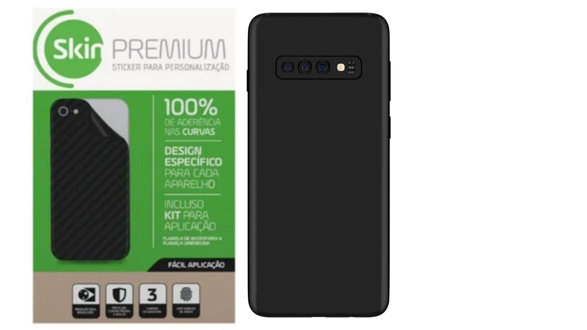 Skin Premium Jateado Fosco Verso e Laterais para Samsung Galaxy S10 Plus