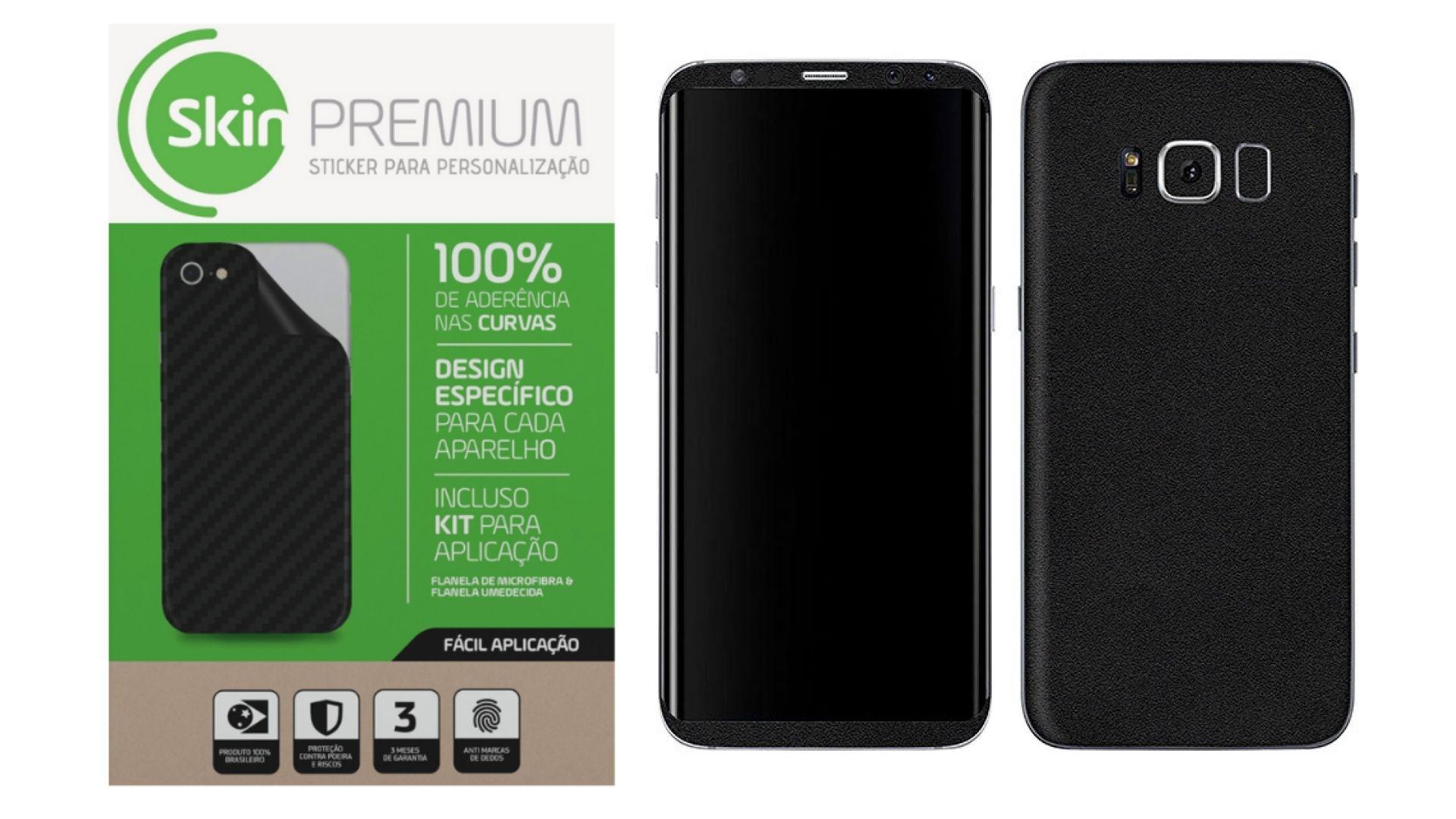 Skin Premium Jateado Fosco Verso e Laterais para Samsung Galaxy S8