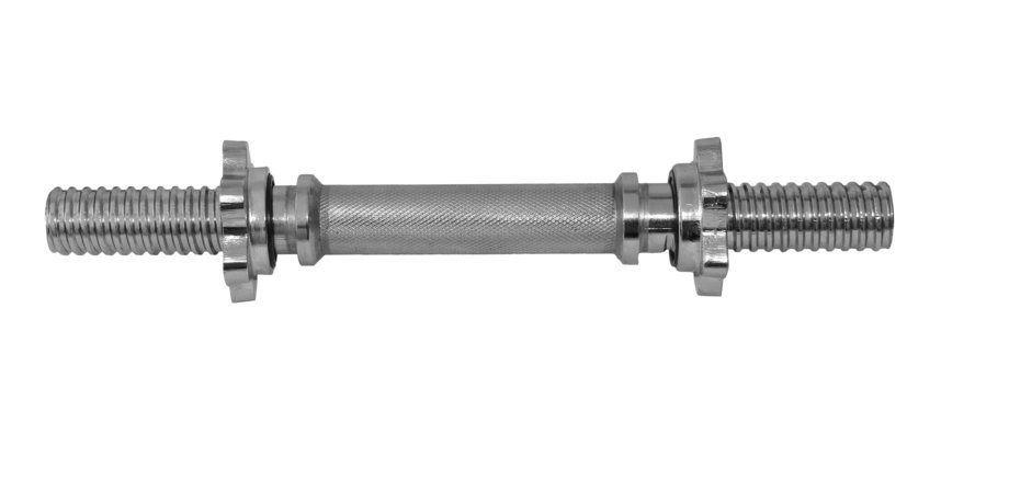 Barra Maciça Halter 40 cm com Rosca - Odin Fit