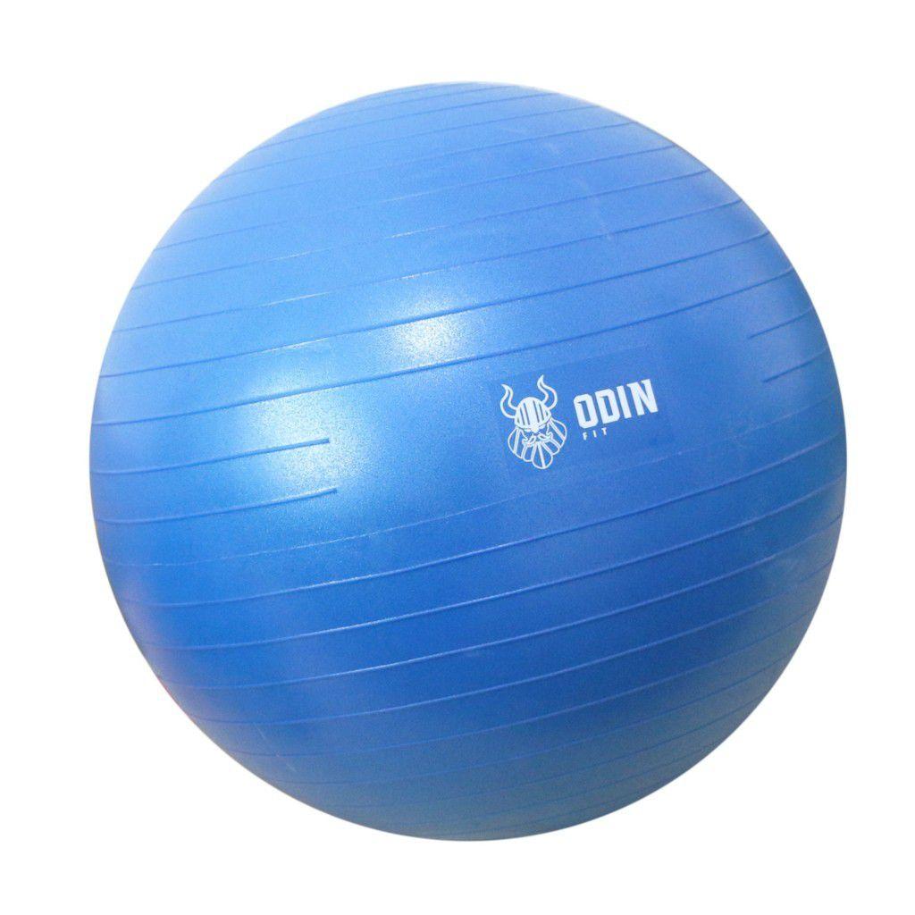 Bola de Ginástica Suíça 65cm - Azul - ODIN FIT b74b11918c6bd
