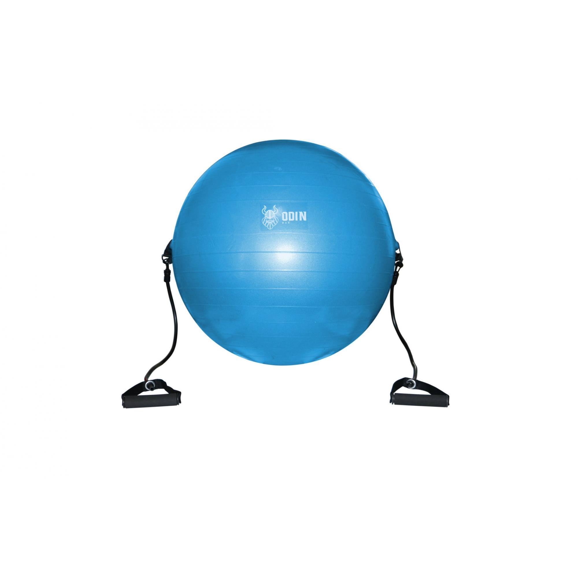 Bola de Ginástica Suíça 75cm com Alças Puxador - Odin Fit