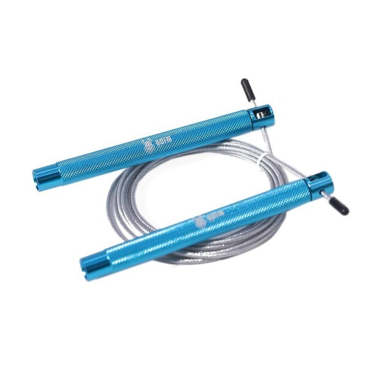 Corda de Pular Speed Rope Ajustável em Alumínio Azul Recartilhado - Odin Fit