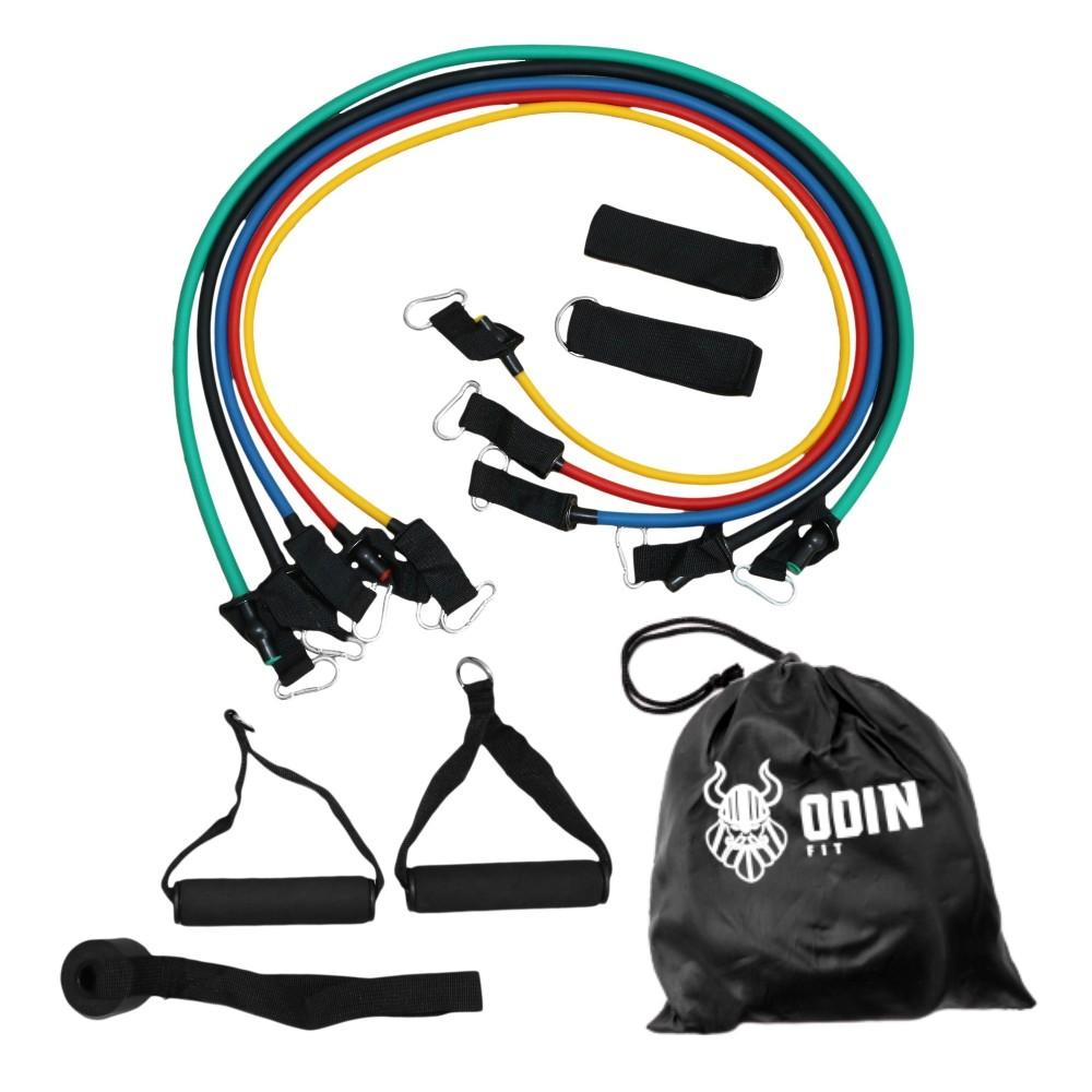 Elásticos Extensores Treinamento Funcional Kit com 11 Peças - Odin Fit