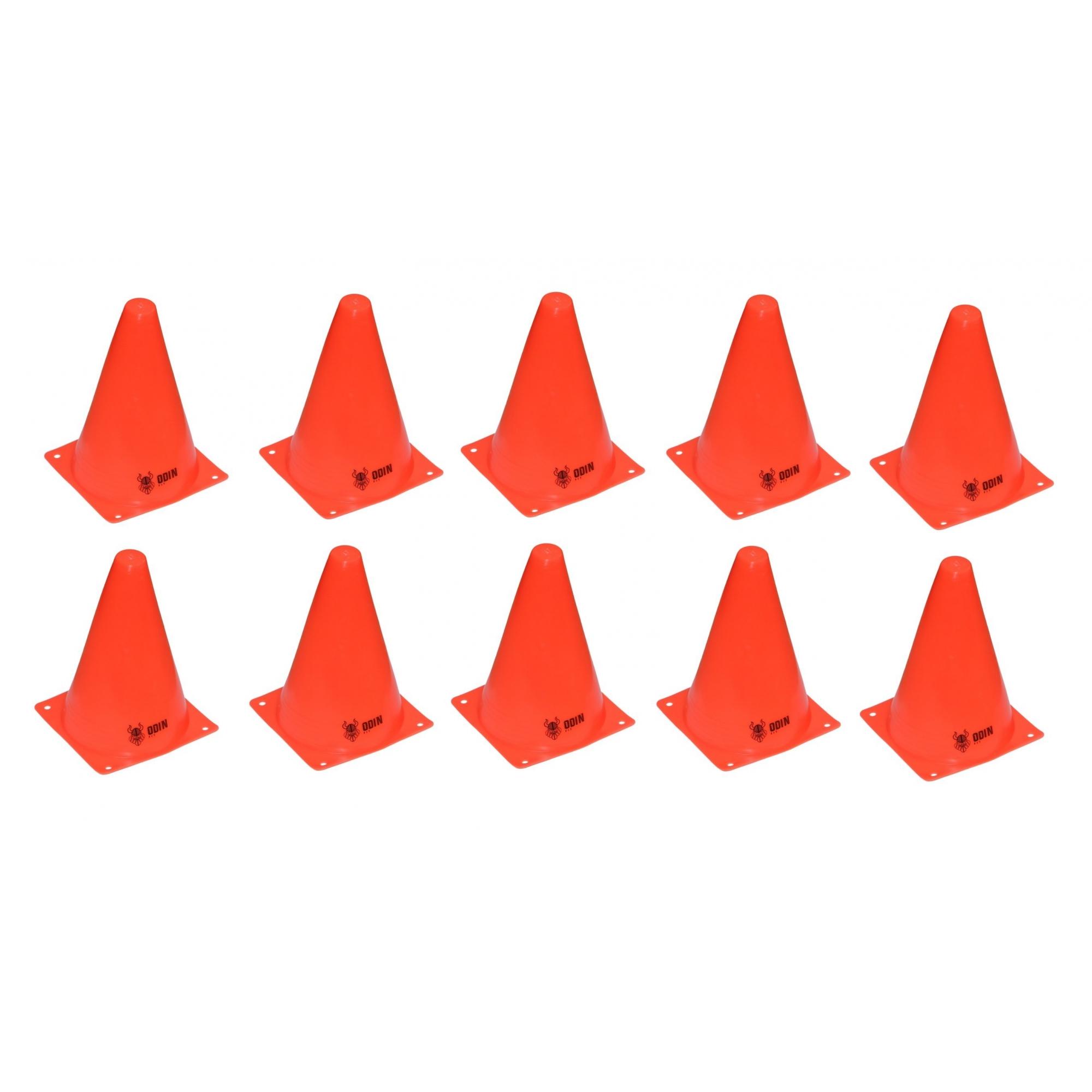 Kit 10 Cones 19cm Treinamento Funcional Agilidade - Odin Fit