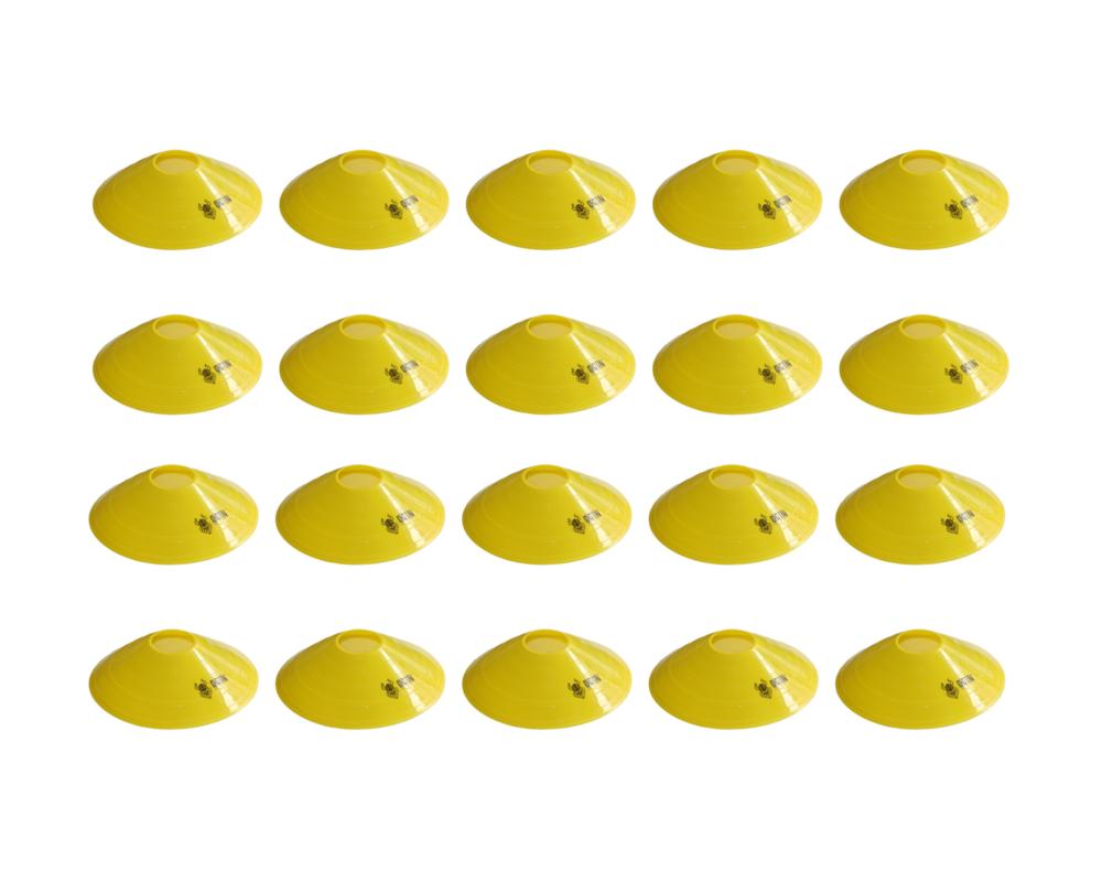 Kit 20 Half Cones Chapeu Chines Treino Funcional e Crossfit