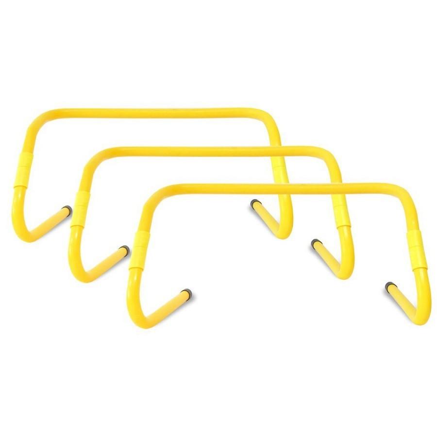 Kit 3 Barreiras De Salto 2 Ajustes Amarelo Odin Fit
