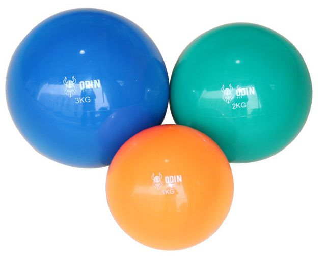 Kit Bolas Tonificadoras Toning Ball 1, 2 e 3kg Odin Fit