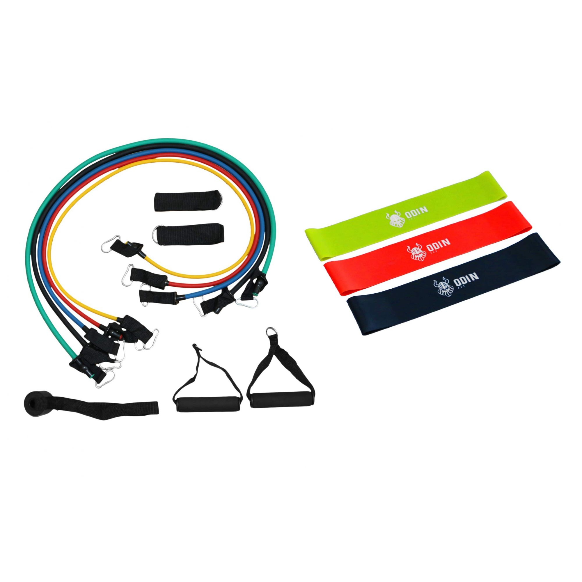 Elástico Extensor Tubing Kit com 11 Peças + Kit Mini Band – ODIN FIT