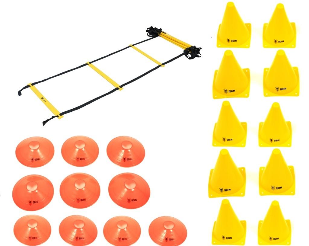 Kit Funcional Escada de Agilidade + 10 Cones + 10 Chapéu Chinês