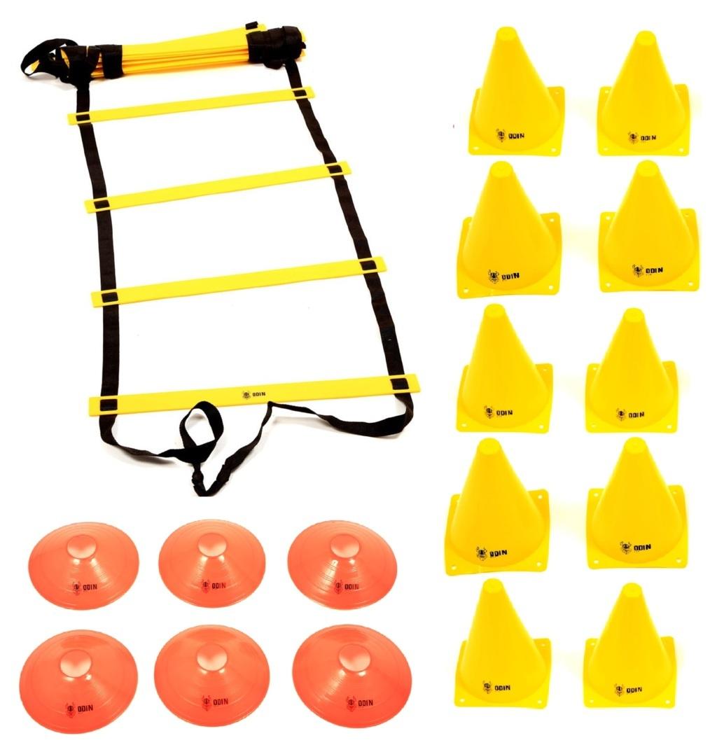 Kit Funcional Escada de Agilidade + 10 Cones + 6 Chapéu Chinês
