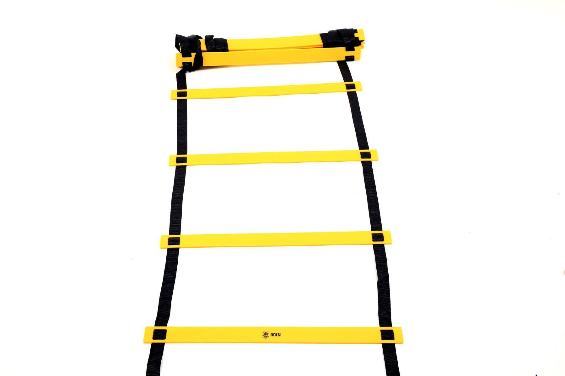 Kit Funcional Escada de Agilidade + 6 Cones + 6 Chapéu Chinês