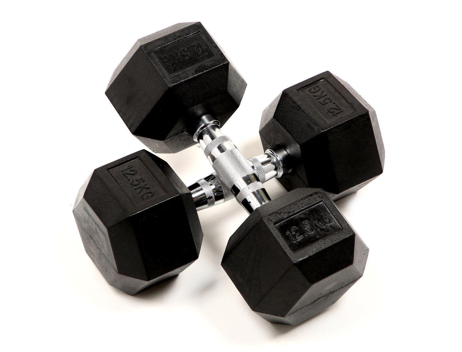 52d655714 Kit Halteres Dumbbell Sextavado Hexagonal Borracha 1 A 10kg - ODIN FIT