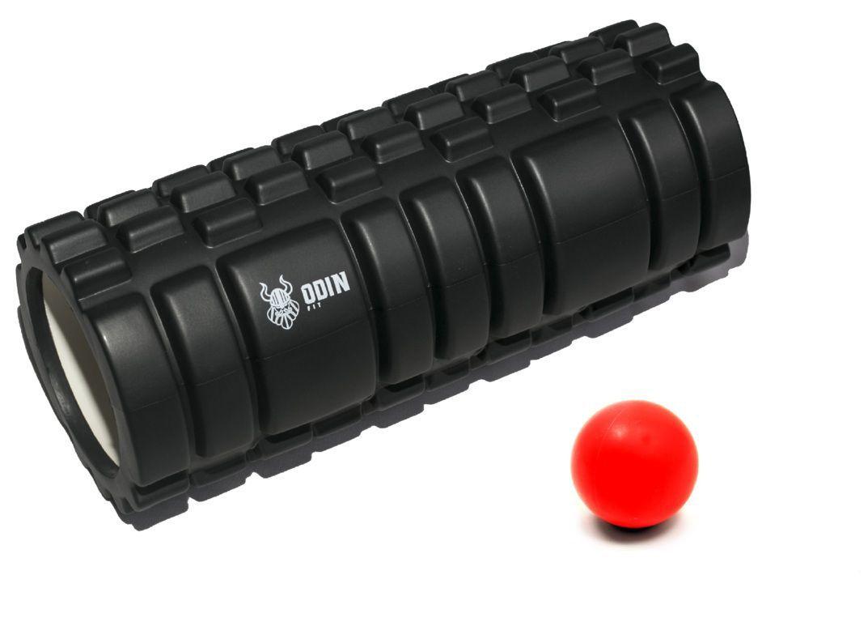 Kit Rolo de Liberação Miofascial Texturizado   Bola de  Massagem Lacrosse Ball