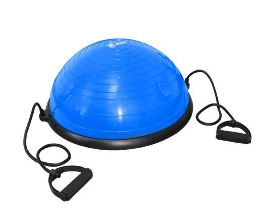 Meia Bola Bosu Antiestouro Com Alças Cor Azul - ODIN FIT