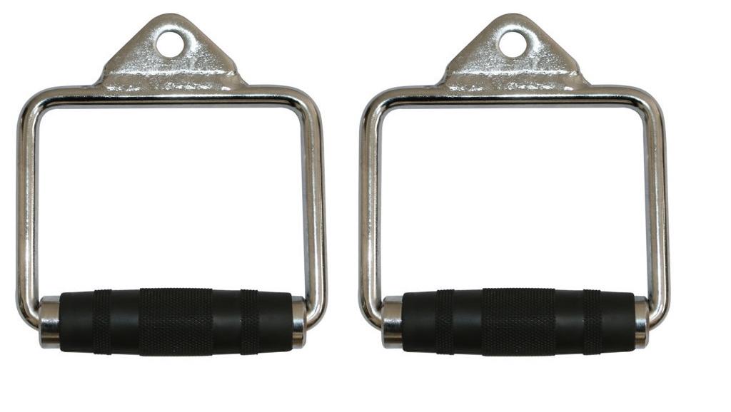 Puxador Estribo Crossover em Aço com pegada Emborrachada Giratória (Par)