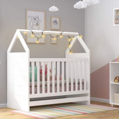 Berço Mini-cama Montessoriana Casita Riveza Móveis - Branco