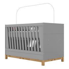 Berço Mini-cama Montessoriano de MDF Henn Alegria - Cinza